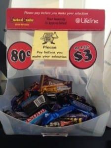 Lifeline charity chocolate box
