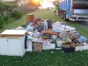 furniture waste, kerbside waste